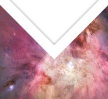 Orion Nebula Chevron Space Sticker