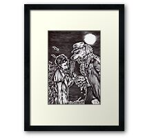 Hellsing - Alucard and the Captain Framed Print