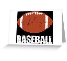 Football Baseball Troll Greeting Card