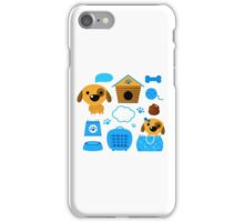 Cute nice Dogs for little Kids : blue design Edition iPhone Case/Skin