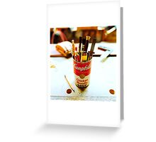 Soup Can Pencil cup Greeting Card