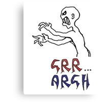 grr...argh with colour Canvas Print
