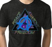 Peace and Anarchy - Freedom Tri-blend T-Shirt