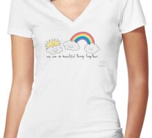 We can do beautiful things together Women's Fitted V-Neck T-Shirt