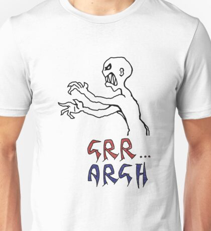 grr...argh with colour Unisex T-Shirt