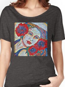 Poppy Impression Women's Relaxed Fit T-Shirt