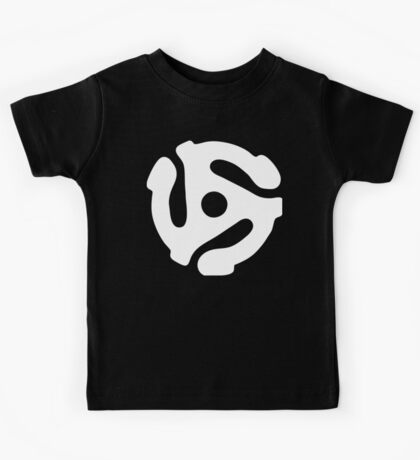 45 rpm vinyl adapter Kids Tee