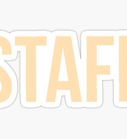 Staff  Sticker