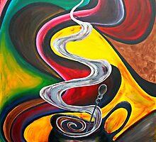 Ode to Coffee.. by Jolanta Anna Karolska / Artbyjolla