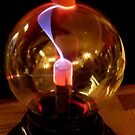 plasma ball - Playing with electric light in a bulb by bubblehex08