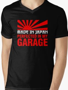 Made In Japan PERFECTED IN MY GARAGE (2) Mens V-Neck T-Shirt