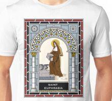 ST EUPHRASIA, VIRGIN under STAINED GLASS Unisex T-Shirt