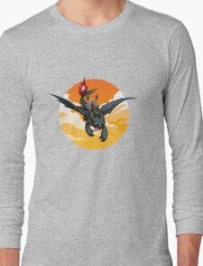 Toothless Targaryen Orange Long Sleeve T-Shirt