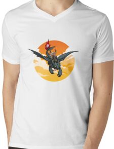 Toothless Targaryen Orange Mens V-Neck T-Shirt
