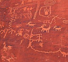 Atlatl Rock Petroglyphs, Valley of Fire, Nevada by Vickie Emms