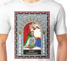 ST FERDINAND OF CASTILE under STAINED GLASS Unisex T-Shirt