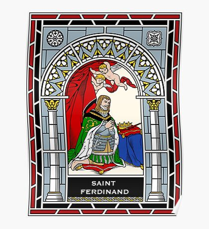 ST FERDINAND OF CASTILE under STAINED GLASS Poster