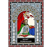 ST FERDINAND OF CASTILE under STAINED GLASS Photographic Print