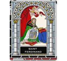 ST FERDINAND OF CASTILE under STAINED GLASS iPad Case/Skin