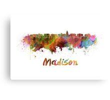 Madison skyline in watercolor Metal Print