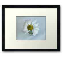 A Small Pleasure Daisy Portrait Framed Print