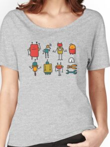 Retro robots Women's Relaxed Fit T-Shirt