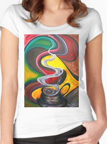 Ode to Coffee.. Women's Fitted Scoop T-Shirt