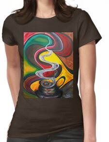 Ode to Coffee.. Womens Fitted T-Shirt
