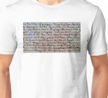 greek ancient writing Unisex T-Shirt