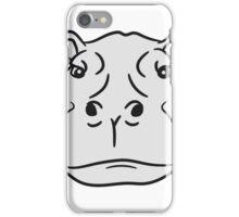 kopf gesicht nilpferd dick wasser schwimmen dick groß see tümpel comic cartoon  iPhone Case/Skin