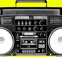 Ghetto Blaster Invert by wearmoretees