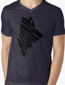 Maine Mens V-Neck T-Shirt