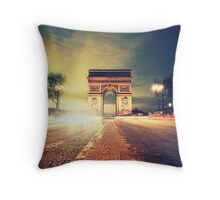 paris skyline Throw Pillow