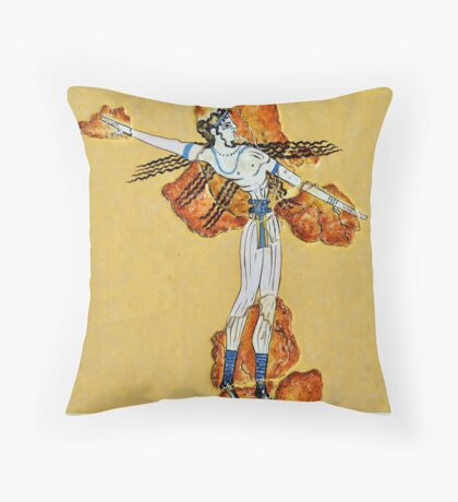 greek ancient painting Throw Pillow