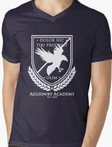 Aglionby Academy Crest, White Transparent Mens V-Neck T-Shirt