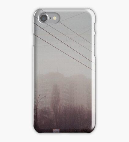 Building in a fog iPhone Case/Skin