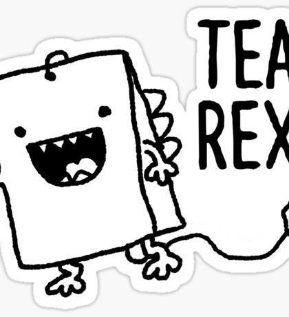 Tea Rex Tea Bag Funny Pun Cartoon Sticker