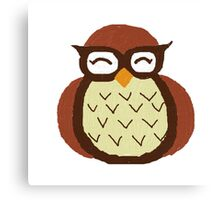 owl paint small print Canvas Print