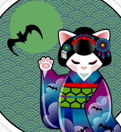 Halloween Kokeshi Maneki Neko Maiko Sticker