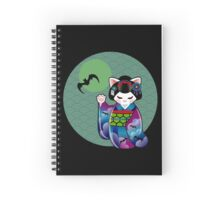 Halloween Kokeshi Maneki Neko Maiko Spiral Notebook