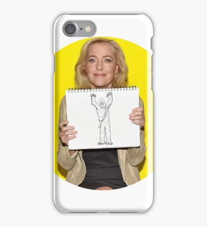 Gillian Anderson Draws Chewbacca! iPhone Case/Skin