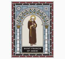 ST FRANCIS OF ASSISI under STAINED GLASS One Piece - Short Sleeve