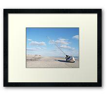 Beached Sailboat Framed Print