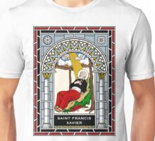 ST FRANCIS XAVIER under STAINED GLASS Unisex T-Shirt