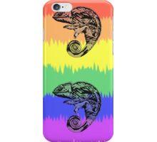 Oscar the Chameleon: Pride Flag iPhone Case/Skin