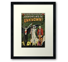 Adventures into the Unknown - Vampire and Friends Framed Print