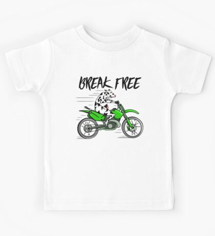 Cow Riding A Motorbike Kids Tee