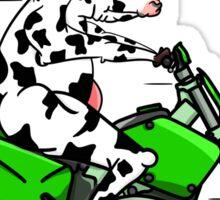 Cow Riding A Motorbike Sticker