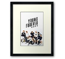 BTS Puma Shoot Young Forever Edit Framed Print