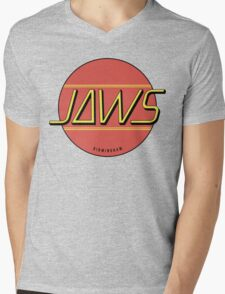 JAWS Band Logo Mens V-Neck T-Shirt